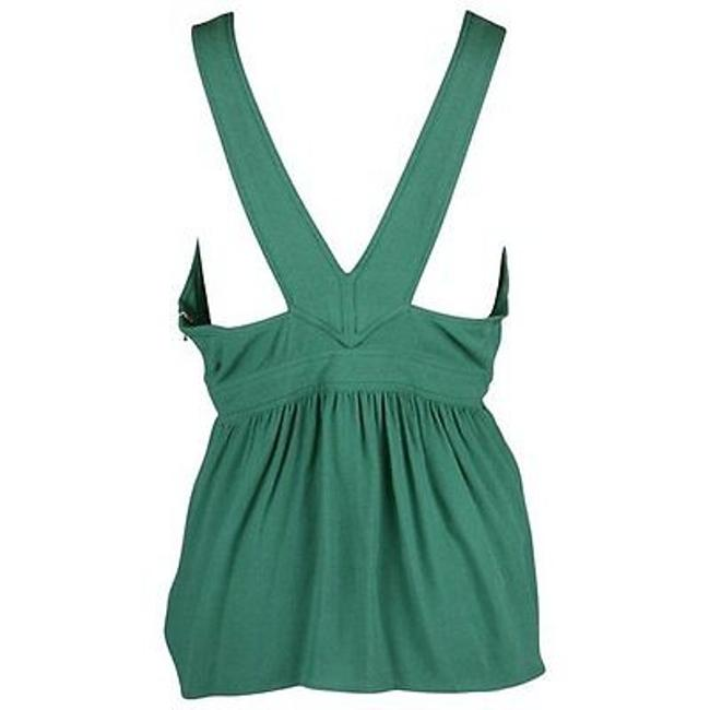 Juicy Couture Tank Empire Waist Seamed Panel Top Green