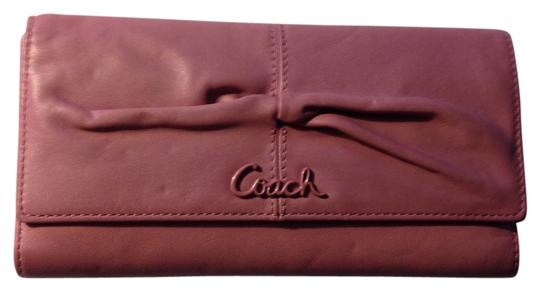 Coach Parker Leather Checkbook Wallet F42451