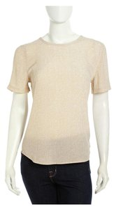 Equipment Silk Sheer Top Sand Dune Dotted