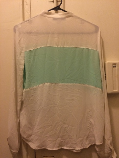 Forever 21 Top White & Mint