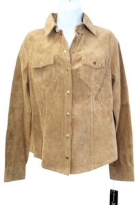 INC International Concepts Suede Button Down Shirt
