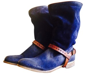 ndc Vintage Look Slouchy blue Boots