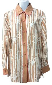 Bob Mackie Silk Blouse Button Down Shirt