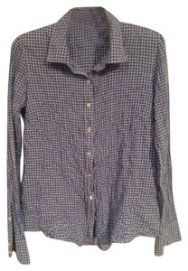 J.Crew Button Down Shirt Blue and white
