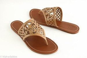 8d43e5cd774e Tory Burch Thatched Perforated Thong Leather Natural Blush Sandals