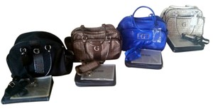 Guess Diaper BAG with changing pad and clear diper case. Brown or Blue or White Diaper Bag