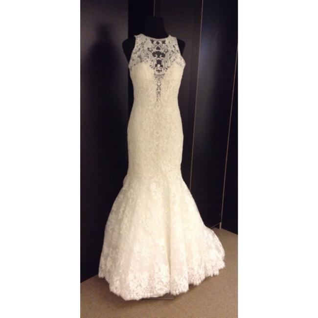 Allure Bridals Ivory Lace C280 Formal Wedding Dress Size 6 (S) Allure Bridals Ivory Lace C280 Formal Wedding Dress Size 6 (S) Image 1