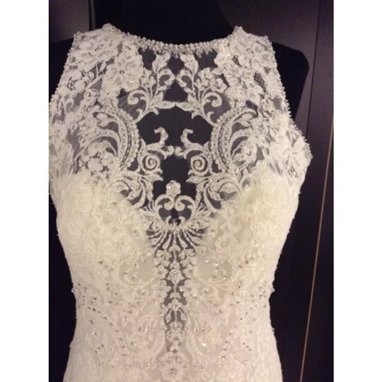 Allure Bridals Ivory Lace C280 Formal Dress Size 6 (S)