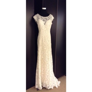 Maggie Sottero Ivory/Pearl Lace Georgia Formal Wedding Dress Size 12 (L)