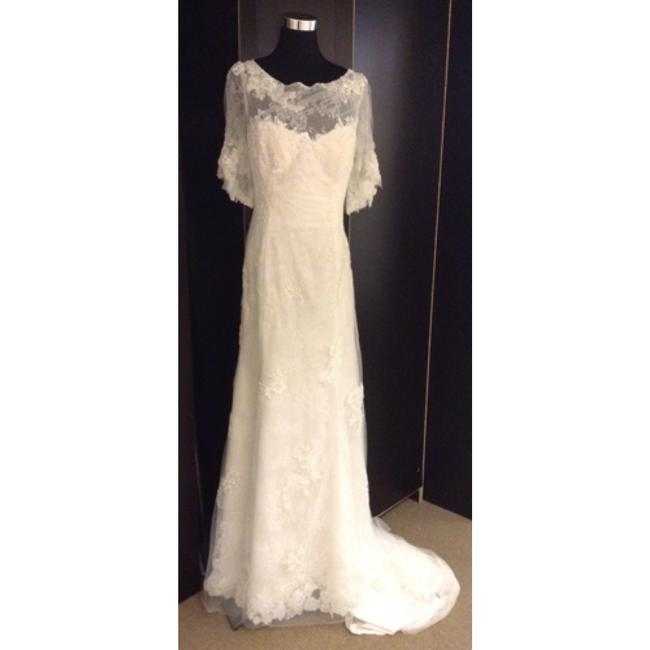 Maggie Sottero Ivory Lace Formal Wedding Dress Size 14 (L) Maggie Sottero Ivory Lace Formal Wedding Dress Size 14 (L) Image 1