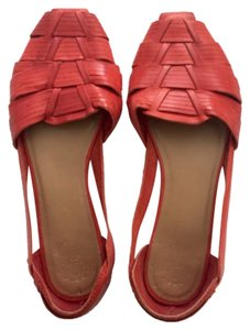 Anthropologie Red Flats