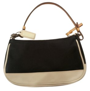 Coach Pink Lining Black and white Clutch