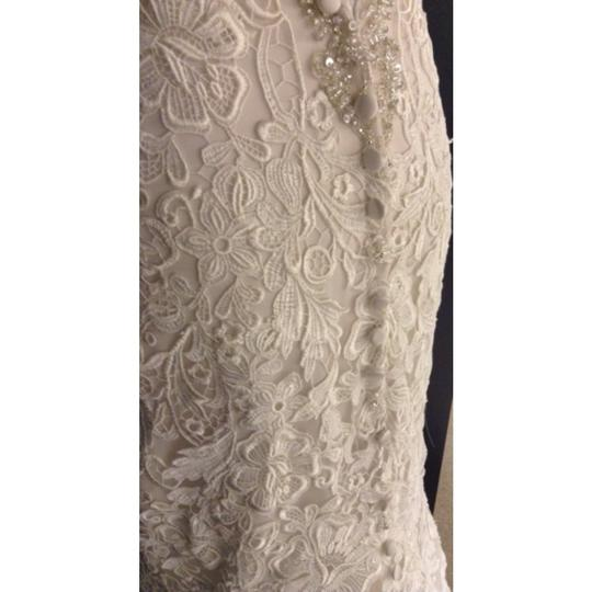 Allure Bridals Ivory/Champagne Lace C329 Formal Wedding Dress Size 2 (XS)