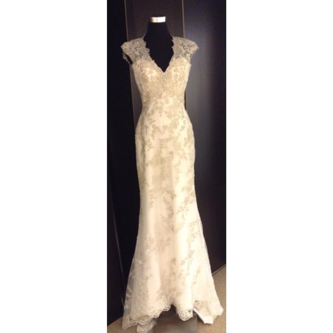 Maggie Sottero Ivory Lace Formal Wedding Dress Size 4 (S) Maggie Sottero Ivory Lace Formal Wedding Dress Size 4 (S) Image 1