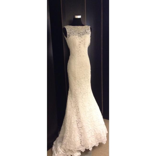 Allure Bridals Ivory/Champagne Lace Formal Wedding Dress Size 2 (XS) Allure Bridals Ivory/Champagne Lace Formal Wedding Dress Size 2 (XS) Image 1