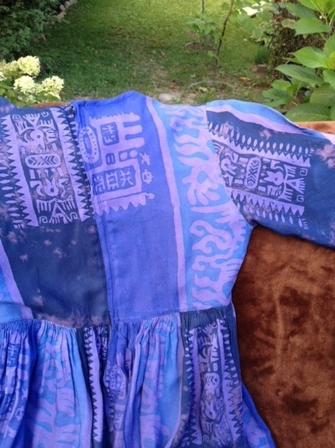 blues & purples Maxi Dress by Other Ganesh Imports Newburyport M.a. Made In Indonesia