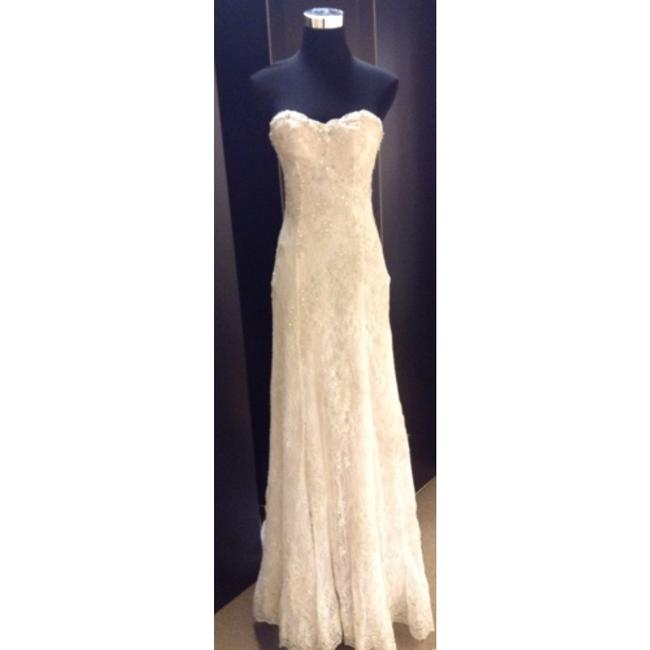 Item - Ivory/Nude Lace Daphne Desiree Hartstock Collection. Only. (Coverlet Sold Separately) Formal Wedding Dress Size 4 (S)