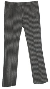 Dior Striped Wool Straight Pants BLACK