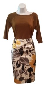 Jones New York Skirt Gray with Yellow Floral