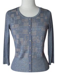 White House | Black Market Gold Gray Studs Cardigan