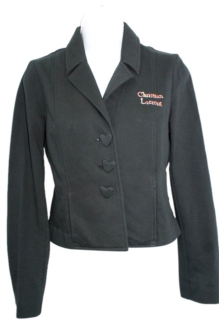 well-wreapped Christian Lacroix Black Cotton 38 Jacket