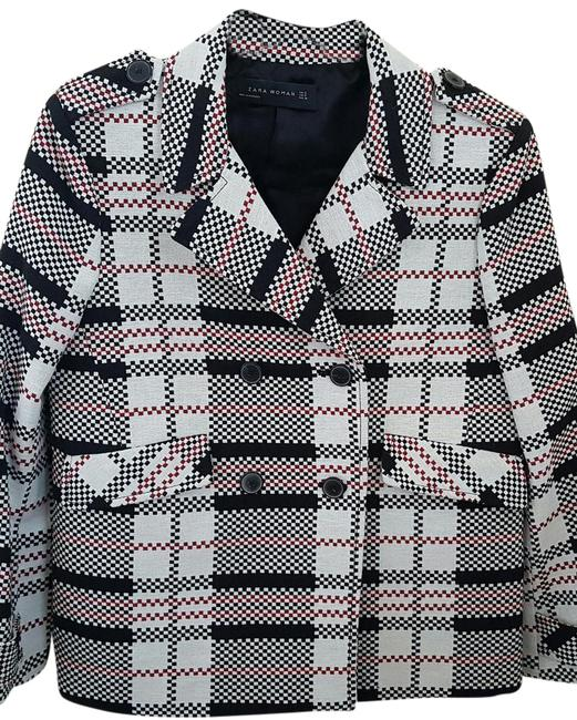 Preload https://item5.tradesy.com/images/zara-checked-blackwhitered-woman-double-breasted-small-blazer-size-6-s-5585404-0-2.jpg?width=400&height=650
