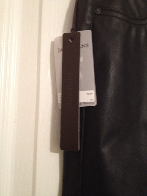 James Jeans Faux Leather Skinny Jeans