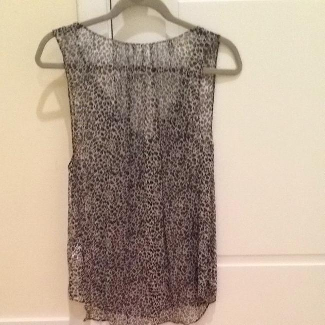 Joie Top Black Grey And White