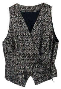Gap Top Black & Silver wraparound vest