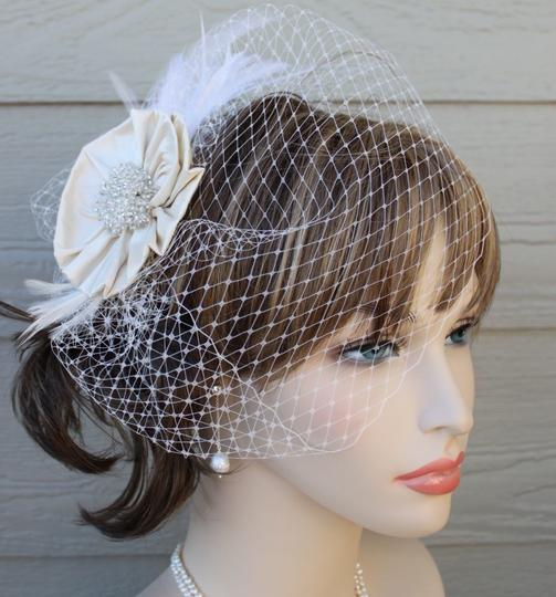 Preload https://item1.tradesy.com/images/champagne-birdcage-silk-fabric-flower-w15-bridal-veil-55895-0-0.jpg?width=440&height=440