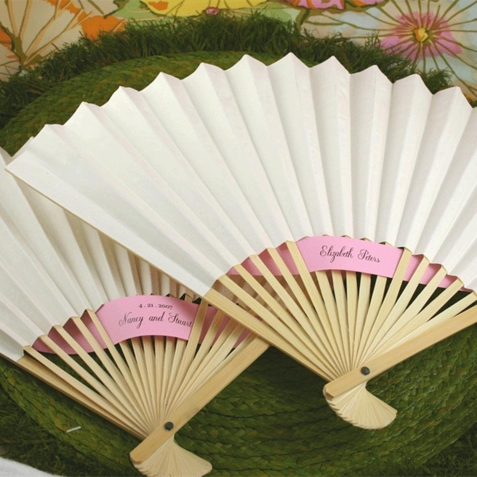 Event Blossom White 100 Paper Fans Wedding Favors - Tradesy