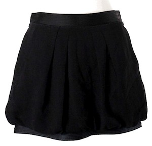 BCBGMAXAZRIA Ruched Ultra Mini Mini Skirt Black