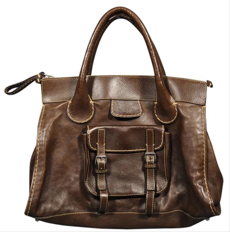 Chloé Edith Oversized Satchel In Brown