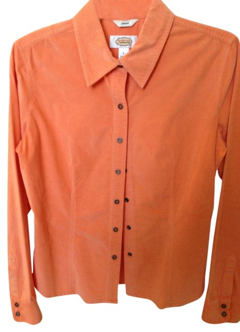 Preload https://item5.tradesy.com/images/talbots-tangerinecoral-corduroy-shirt-blouse-size-4-s-559419-0-0.jpg?width=400&height=650