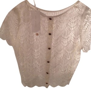 Lush Lace Fall Summer Top Ivory / White