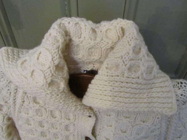Campbell Hand Knit Wool Made In Ireland Cable Cardigan