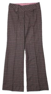 Nanette Lepore Tweed Trouser Pants Brown