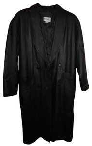 COMINT Leather Full Length Trench Coat