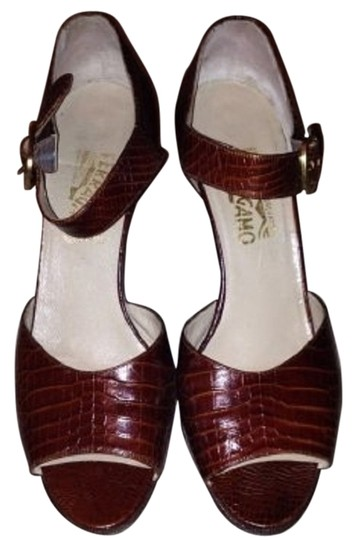 Salvatore Ferragamo Brown Sandals