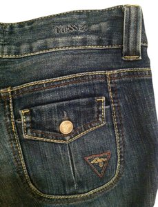 Guess Low Rise Slim Pocket Cargo Jeans-Medium Wash