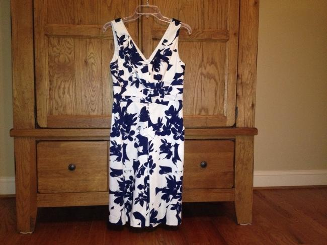 Donna Ricco short dress Navy Blue And White on Tradesy