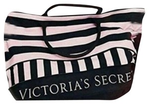 Victoria's Secret Pink/Black/Stripe Travel Bag