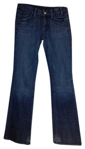 Citizens of Humanity Stretch Cotton Boot Cut Jeans-Dark Rinse