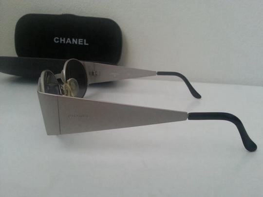 Chanel Vintage Authentic Chanel Silver Metal Frame Sunglasses