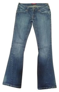 BCBGMAXAZRIA Flair Size 24 Flare Leg Jeans-Medium Wash