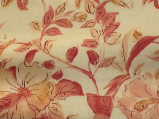 Tommy Bahama short dress Ivory with Coral Flowers on Tradesy