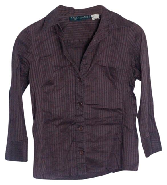 Harve Benard Button Down Shirt Dark Brown