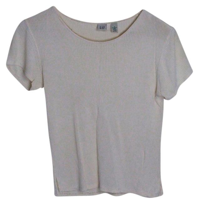Item - Cream Tee Shirt Size 4 (S)