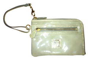 Dooney & Bourke Night Out Date Night Patent Leather Silver Hardware Wristlet in Grey