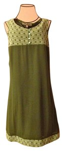 Young Essence short dress Olive Green Vintage-inspired Embroidered on Tradesy